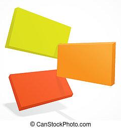 dachówki, eps10, kolor, abstrakcyjny, zachodzące, 3d