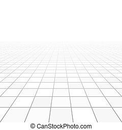 dachówki, perspektywa, podłoga