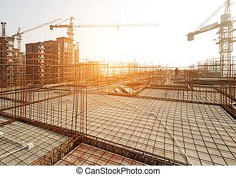 dach, zbudować, budowa, jon