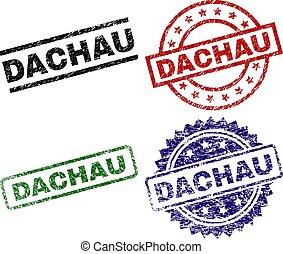 dachau, textured, selos, selo, danificado