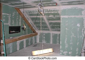 dachgeschoss, rekonstruktion