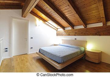 dachgeschoss, schalfzimmer