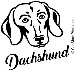 Dachshund head with name