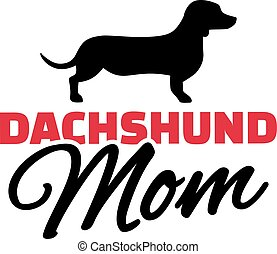 Dachshund Mom with dog silhouette