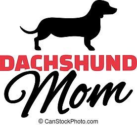 Dachshund Mom with dog silhouette