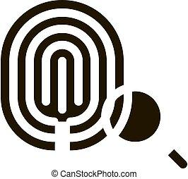 dactylogram, icono, ilustración, huella digital