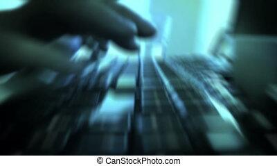 dactylographie, clavier ordinateur