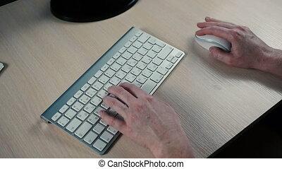 dactylographie, femme, clavier ordinateur