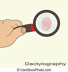dactyloscopy fingerprint magnifier to find a profession