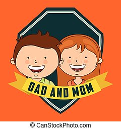 dad and mom design, vector illustration eps10 graphic