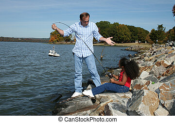 Dad Daughter Fishing