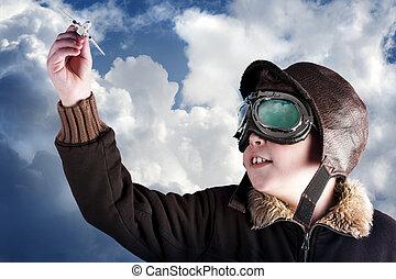 Dad, i wanna be a professional pilot when i?m older - Boy ...