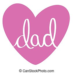 Dad Pink Heart