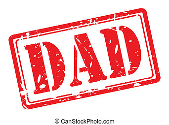 DAD red stamp text