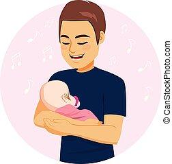 Dad Singing Baby Girl
