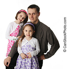 Daddy and his little girls