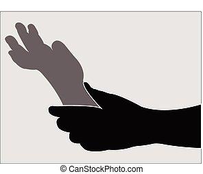 daddy's, jungen, halten hand