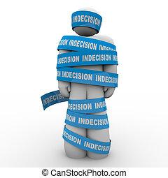 dado, marca, límite, indecisión, paralizado, opción, o