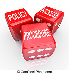 dado, processo, ditta, regole, 3, pratiche, rosso, politica...
