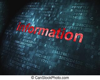 dados, concept:, informação, ligado, experiência digital