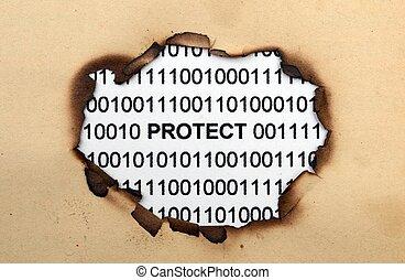 dados, proteja