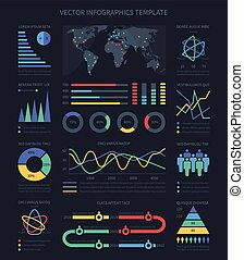 dados, visualisation, gráficos, e, diagramas, demographics, infographics, elementos, para, marketing, apresentação