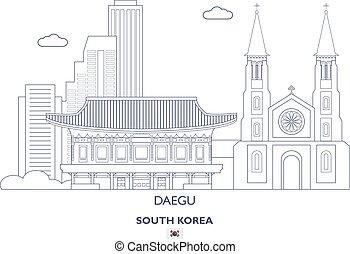 Daegu Linear City Skyline, South Korea