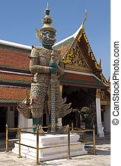 Daemon Statue at the Wat Phra Kaew - Temple of the Emerald...