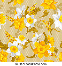 Daffodils. Beautiful spring flowers, isolated on white ...
