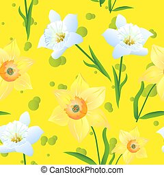 Daffodils on a yellow Background-01