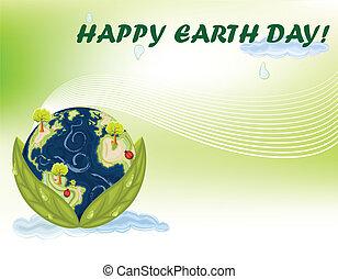 dag, aarde, viering
