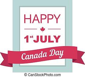 dag, baner, july., 1, st, design, kanada