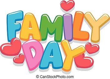 dag, brieven, gezin, 3d