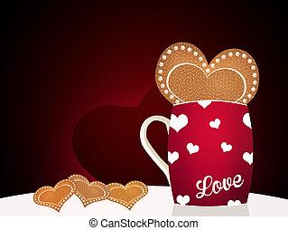 dag, cadeau, valentine