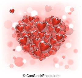 dag, hjärta, valentinkort