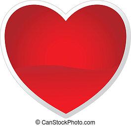 dag, hjerte, din, vektor, valentine's, design.