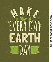 dag jord, plakat