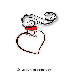 dag, kärlek, romantisk, valentina.