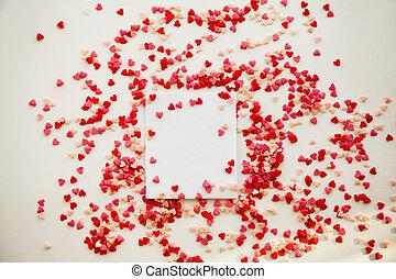 dag, kärlek, valentinbrev, post, ämbete., concept., kort, ...