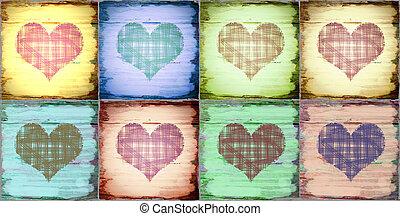 dag, kaart, valentijn