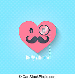dag, karakter, achtergrond, brillen, valentines