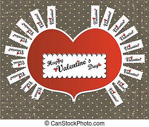dag, kort, valentinbrev