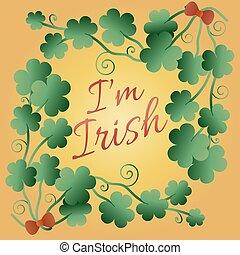 dag, kus, viering, poster, stijl, heilige, vector, irish., design., straat., lettering, mij, patrick's, ontwerp, ouderwetse , illustration., typografisch, day., t-shirt
