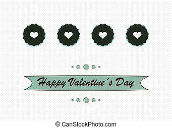 dag, liefde, retro, ontwerp, valentines, concept