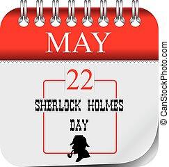 dag, mei, holmes, sherlock, kalender