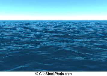 dag, ocean, scenisk