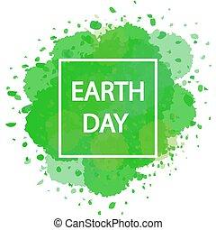 dag, ram, grön fond, vattenfärg, mull, vit