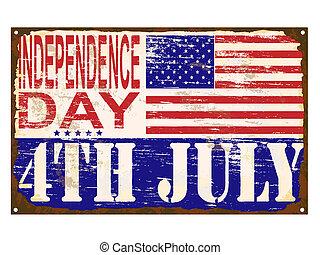 dag uafhængighed, emalje, tegn, [converted]