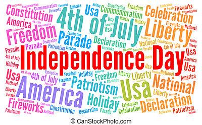 dag uafhængighed, juli 4, ind, united states