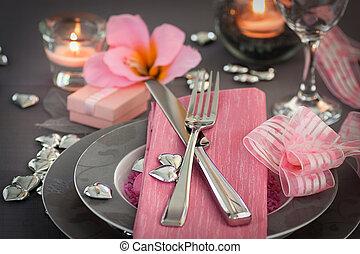 dag, valentinkort, middag